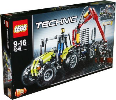 lego technic 8049 traktor mit forstkran lego lagerverkauf. Black Bedroom Furniture Sets. Home Design Ideas
