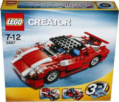 lego 5867 creator roter sportwagen miwarz teltow lego. Black Bedroom Furniture Sets. Home Design Ideas