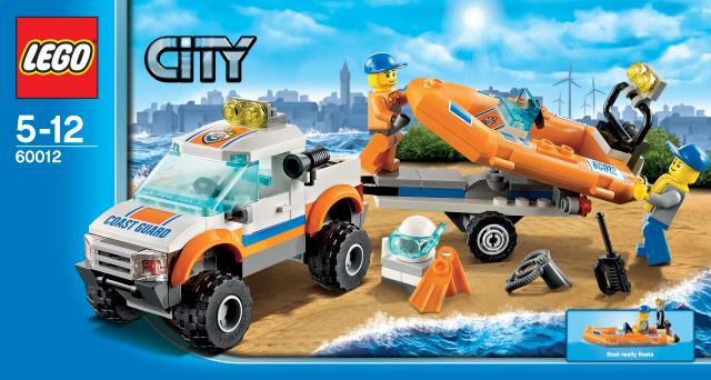 lego city 60012 k stenwachenfahrzeug mit schlauchboot g nstig. Black Bedroom Furniture Sets. Home Design Ideas